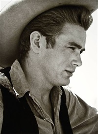 james dean on the set of giant, marfa, texas by sid avery
