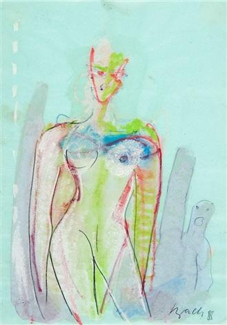 weibliche akte (2 works) by elvira bach