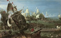 the battle of lepanto by andries van eertvelt
