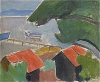 häuser mit roten dächern by paul basilius barth