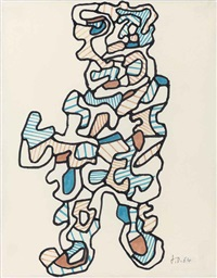 personnage xxi by jean dubuffet