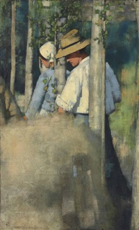 in the fields by henry herbert la thangue