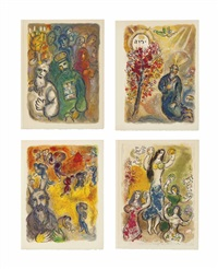 the story of the exodus (set of 24) by marc chagall