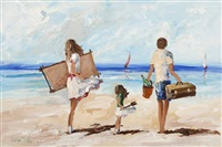 picnic on the beach by lorna millar