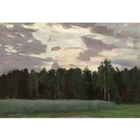 landscape at dusk by nikolai alexandrovich klodt