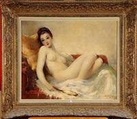 femme nue allongée by simon van gelderen