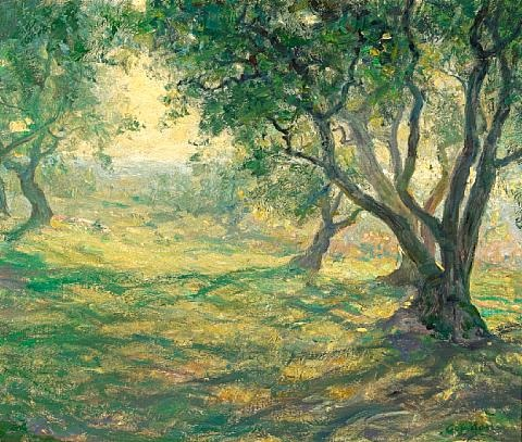 in the olive orchard provençal olive orchard by guy rose