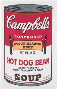 hot dog bean, from campbell's soup ii by andy warhol