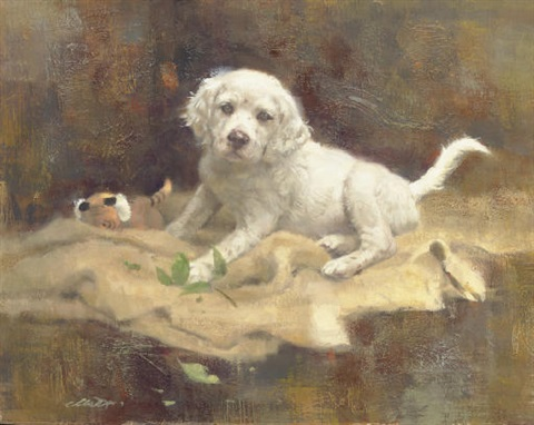 the botanist english setter pup by robert kennedy abbett