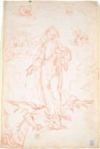 immacolata concezione (recto) sant'ambrogio (verso) by stefano maria legnani