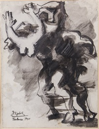 from the rape of europe series, toulouse by jacques lipchitz