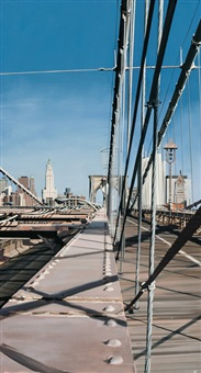 the brooklyn bridge by richard estes
