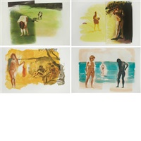 beach scenes i-iv by eric fischl