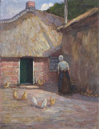 a farmyard by piet mondrian