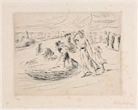 am strande by max liebermann