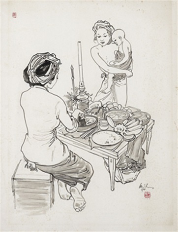the rojak seller by lee man fong
