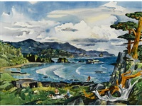 oregon coast by millard sheets