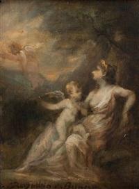 venus et l'amour by marie-abraham rosalbin de buncey