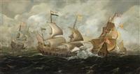 batalla naval by andries van eertvelt