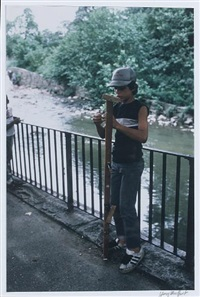 loading a zip gun by the bronx river, east tremont avenue, the south bronx (+ park jam at patterson projects playground, the south bronx; 2 works) by henry chalfant