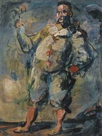 l'illusionniste or pierrot by georges rouault