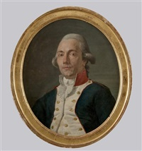portrait d'un officier by nicolas guy brenet