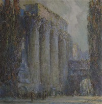 the temple of mars ultor, rome by george wharton edwards