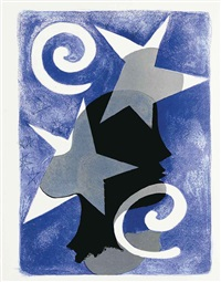 lettera amorosa (album of 29 works w/title, justif. and text by rené char) by georges braque