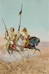 arabs on horseback by giulio rosati