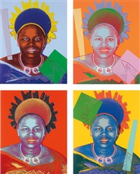 queen ntombi twala of swaziland, from reigning queens by andy warhol
