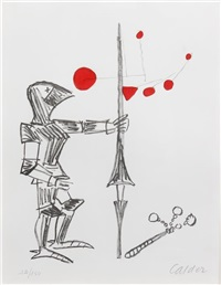 untitled (knight with lance and mobile) by alexander calder