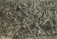 trojans repelling the greeks (after giulio romano) by giovanni battista ghisi