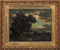 tonalist landscape by david johnson