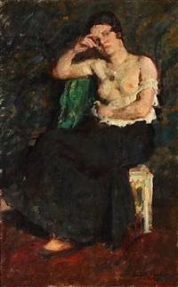 a half-naked woman by julius paulsen