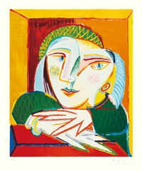 portrait of maria therese walter by pablo picasso