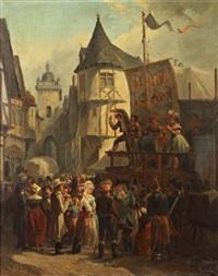 parade foraine au temps du directoire by léonard saurfelt