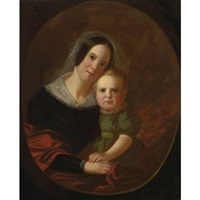 mrs. george caleb bingham and son, newton by george caleb bingham