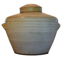 ginger jar with lid by cornelius bosch