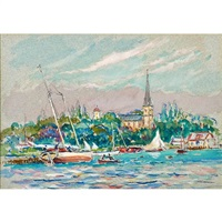 from sea fox moored at salem (+ nassau; 2 works) by reynolds beal