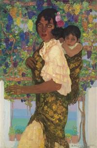 gitana con niño (gypsy and child) by hermenegildo anglada camarasa