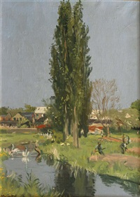 the poplars by maurice macgonigal