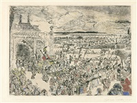 triomphe romain by james ensor