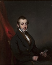 portrait of a seated gentleman by george chinnery