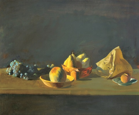 fruit still life by tibor csernus
