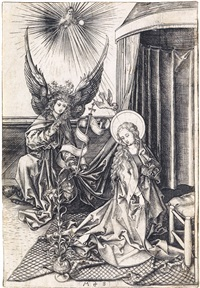 the annunciation by martin schongauer