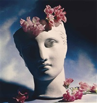 classical head with flowers by horst p. horst