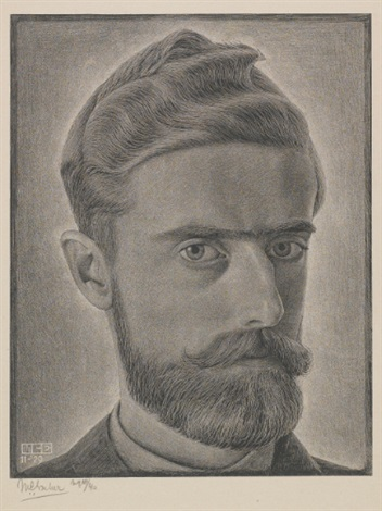 escher, self-portrait by m. c. escher