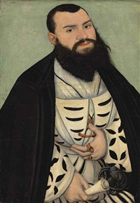 portrait of dr. johann scheiring (1505-1555) by lucas cranach the elder