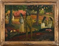 vahinées et esquisse (recto-verso) by paul gauguin