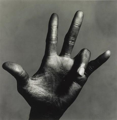 the hand of miles davis (c), new york by irving penn